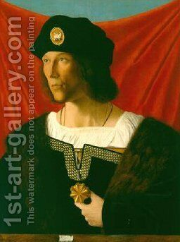 Portrait of a Man 1512 by Bartolomeo Veneto - Reproduction Oil Painting