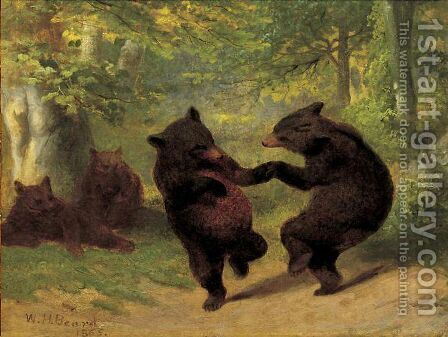Dancing Bears by William Holbrook Beard - Reproduction Oil Painting