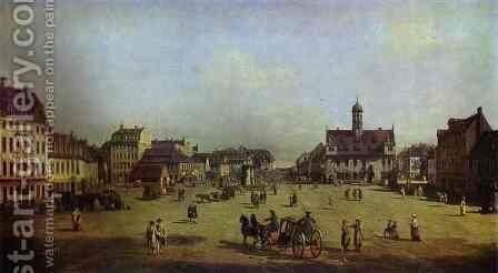 The New Market Square In Dresden 1750 by Bernardo Bellotto (Canaletto) - Reproduction Oil Painting
