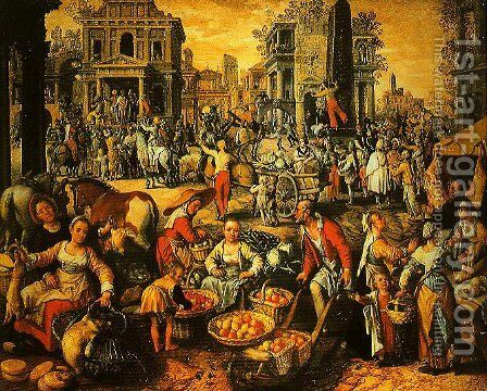Pilate Shows Jesus to the People by Joachim Beuckelaer - Reproduction Oil Painting