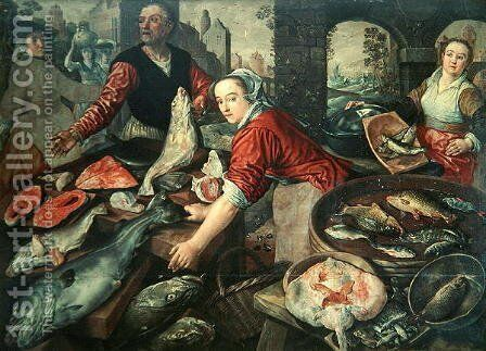 The Fish Market 2 by Joachim Beuckelaer - Reproduction Oil Painting