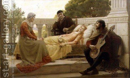 How Liza Loved the King 1890 by Blair-leighton Edmund - Reproduction Oil Painting