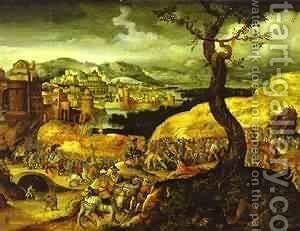 Procession To Golgotha by Herri met de Bles - Reproduction Oil Painting