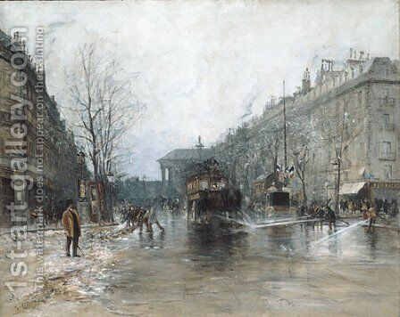 Paris Street Scene 1893 by Frank Myers Boggs - Reproduction Oil Painting