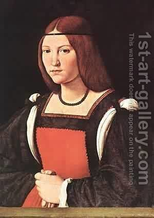 Portrait Of A Young Woman by Bonifacio Veronese (Pitati) - Reproduction Oil Painting