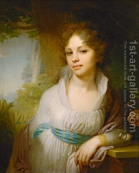 Portrait Of M I Lopukhina 1797 by Vladimir Lukich Borovikovsky - Reproduction Oil Painting