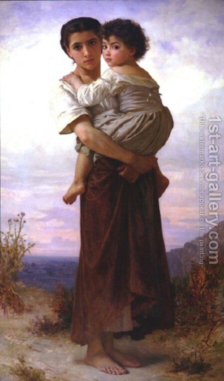 Les Bohemmiennes by William-Adolphe Bouguereau - Reproduction Oil Painting