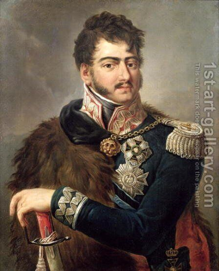 Prince Josef Poniatowski by Antoni Brodowski - Reproduction Oil Painting