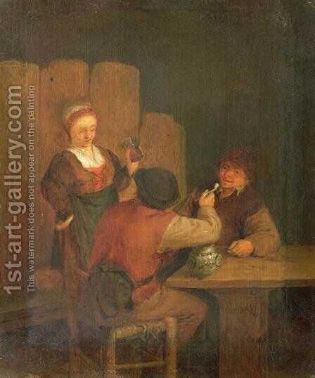 Domestic Interior by Adriaen Brouwer - Reproduction Oil Painting