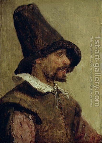 Portrait of a Man by Adriaen Brouwer - Reproduction Oil Painting