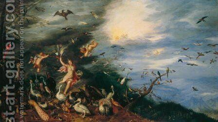 Air Allegories of the Four Elements by Jan The Elder Brueghel - Reproduction Oil Painting