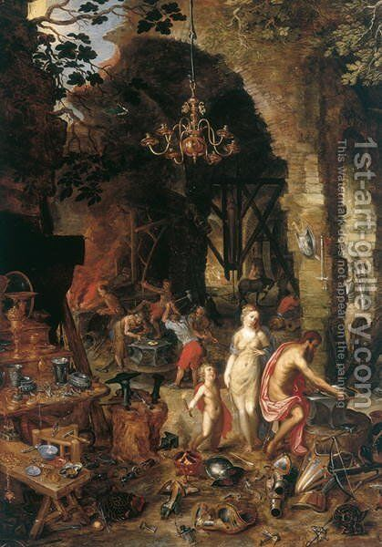 Fire Allegory of the Elements by Jan The Elder Brueghel - Reproduction Oil Painting