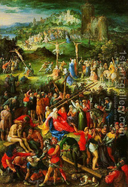 The Great Calvary by Jan The Elder Brueghel - Reproduction Oil Painting