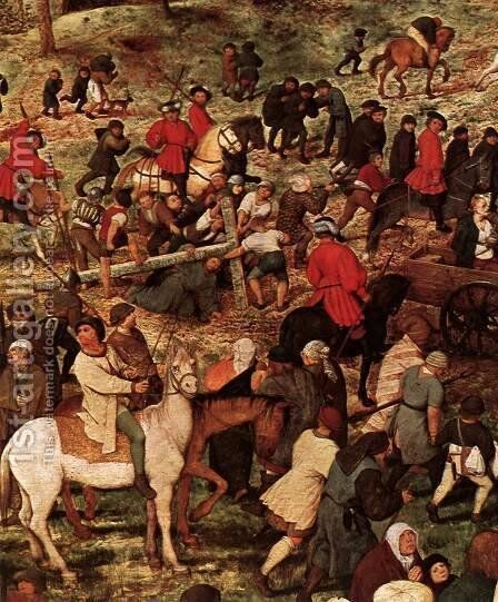 Christ Carrying the Cross (detail) 1564 2 by Jan The Elder Brueghel - Reproduction Oil Painting