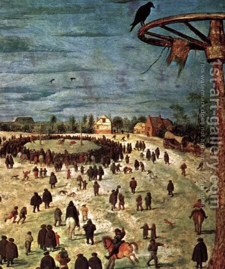 Christ Carrying the Cross (detail) 1564 6 by Jan The Elder Brueghel - Reproduction Oil Painting