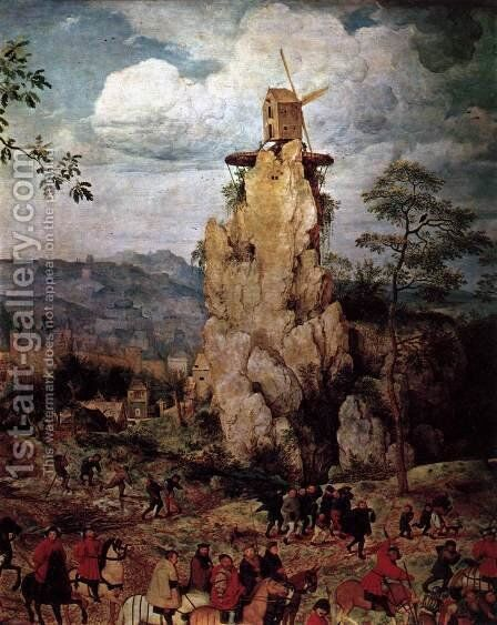 Christ Carrying the Cross (detail) 1564 7 by Jan The Elder Brueghel - Reproduction Oil Painting