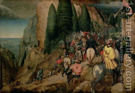 Conversion of St Paul 1567 by Jan The Elder Brueghel - Reproduction Oil Painting