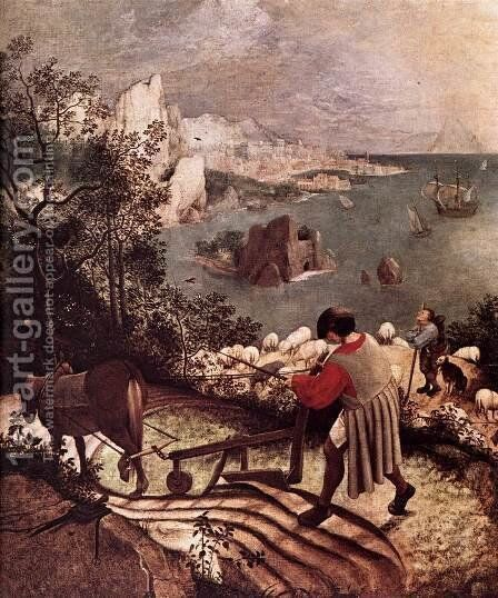 Landscape with the Fall of Icarus (detail) 1555 by Jan The Elder Brueghel - Reproduction Oil Painting