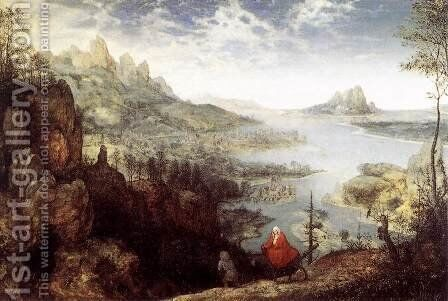 Landscape with the Flight into Egypt 1563 by Jan The Elder Brueghel - Reproduction Oil Painting