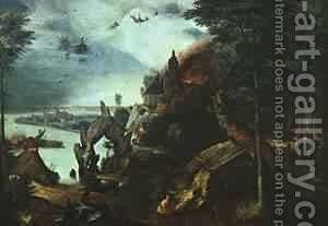 Landscape With The Temptation Of Saint Anthony 1555-58 by Jan The Elder Brueghel - Reproduction Oil Painting