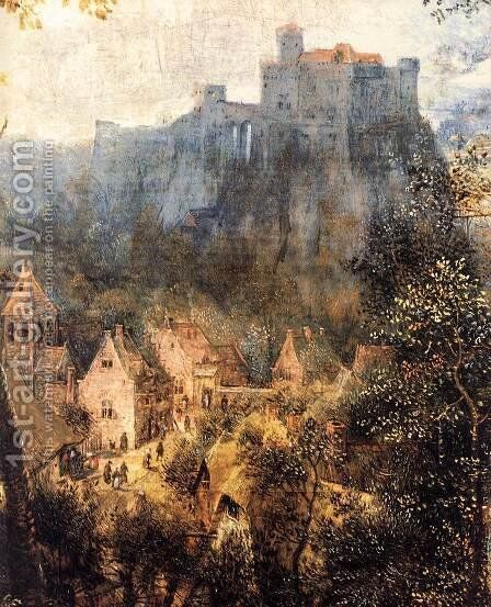 Magpie on the Gallow (detail) 1568 2 by Jan The Elder Brueghel - Reproduction Oil Painting