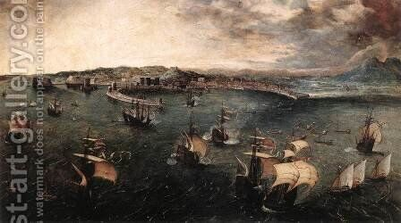 Naval Battle in the Gulf of Naples 1558-62 by Jan The Elder Brueghel - Reproduction Oil Painting