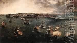 Navalbattle In The Gulf Of Naples 1558-62 by Jan The Elder Brueghel - Reproduction Oil Painting