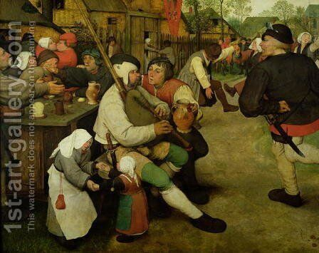Peasant Dance 1568 by Jan The Elder Brueghel - Reproduction Oil Painting