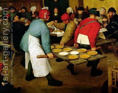 Peasant Wedding by Jan The Elder Brueghel - Reproduction Oil Painting
