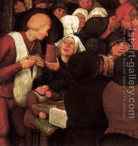Peasant Wedding (detail) 1567 7 by Jan The Elder Brueghel - Reproduction Oil Painting