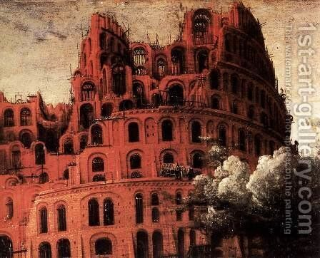 The 'Little' Tower of Babel (detail) 1564 by Jan The Elder Brueghel - Reproduction Oil Painting