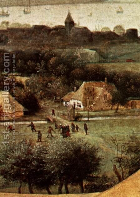 The Corn Harvest (detail) 1565 3 by Jan The Elder Brueghel - Reproduction Oil Painting