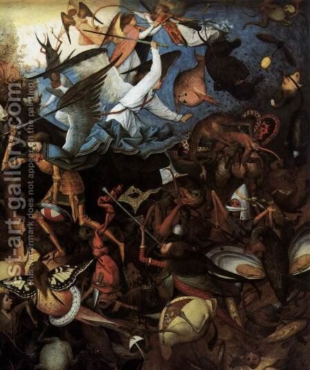 The Fall of the Rebel Angels (detail) 1562 by Jan The Elder Brueghel - Reproduction Oil Painting