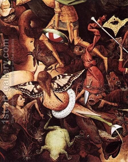 The Fall of the Rebel Angels (detail) 1562 2 by Jan The Elder Brueghel - Reproduction Oil Painting