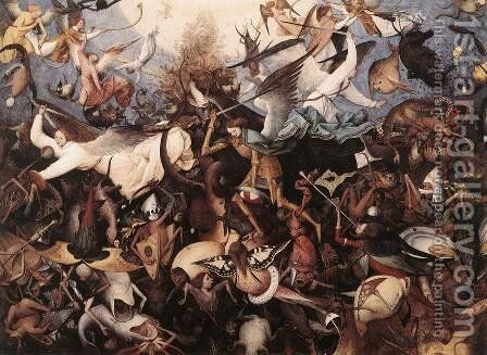 The Fall of the Rebel Angels 1562 by Jan The Elder Brueghel - Reproduction Oil Painting