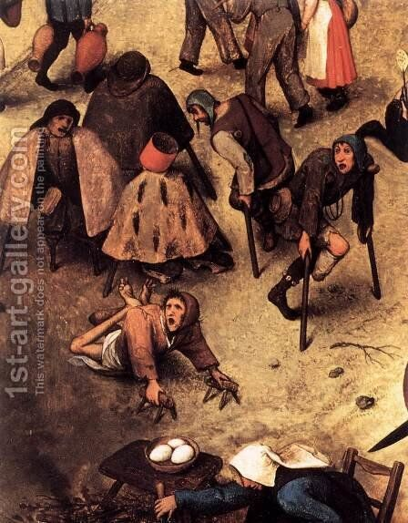 The Fight between Carnival and Lent (detail) 1559 5 by Jan The Elder Brueghel - Reproduction Oil Painting
