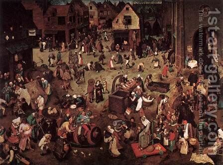 The Fight between Carnival and Lent 1559 by Jan The Elder Brueghel - Reproduction Oil Painting