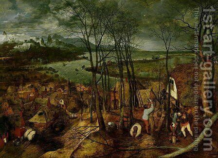 The Gloomy Day Spring 1559 by Jan The Elder Brueghel - Reproduction Oil Painting