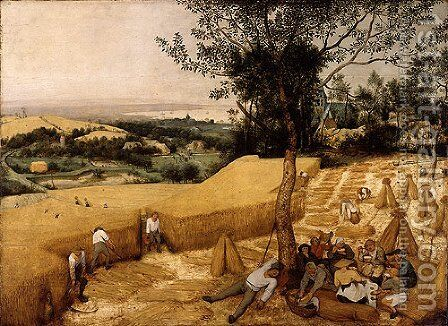 The Harvesters 1565 by Jan The Elder Brueghel - Reproduction Oil Painting