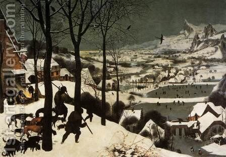 The Hunters in the Snow (January) 1565 by Jan The Elder Brueghel - Reproduction Oil Painting