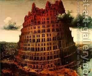 The Little Tower Of Babel C1563 by Jan The Elder Brueghel - Reproduction Oil Painting