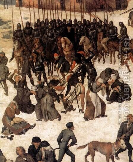 The Massacre of the Innocents (detail) 1565-67 by Jan The Elder Brueghel - Reproduction Oil Painting