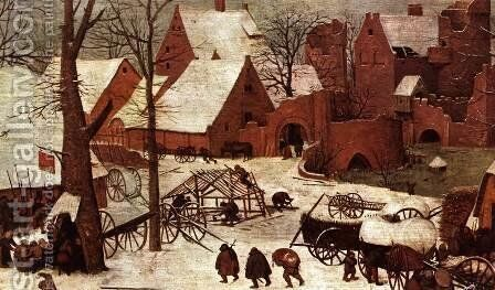 The Numbering at Bethlehem (detail) 1566 5 by Jan The Elder Brueghel - Reproduction Oil Painting