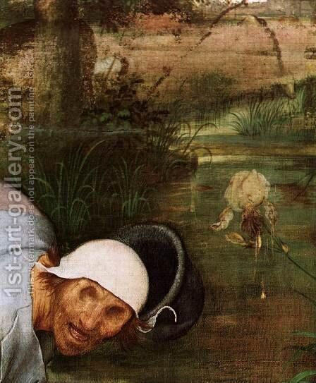 The Parable of the Blind Leading the Blind (detail) 1568 4 by Jan The Elder Brueghel - Reproduction Oil Painting