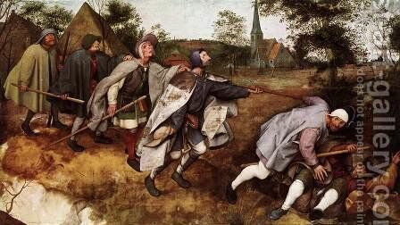 The Parable of the Blind Leading the Blind 1568 by Jan The Elder Brueghel - Reproduction Oil Painting
