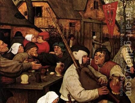 The Peasant Dance (detail) 1567 2 by Jan The Elder Brueghel - Reproduction Oil Painting