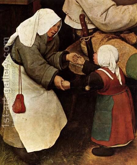 The Peasant Dance (detail) 1567 4 by Jan The Elder Brueghel - Reproduction Oil Painting