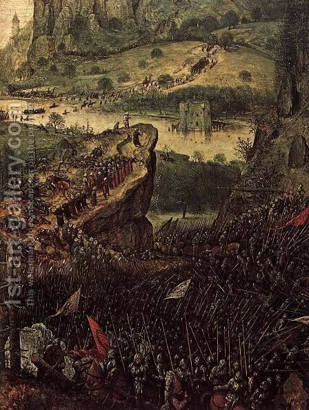 The Suicide of Saul (detail) 1562 2 by Jan The Elder Brueghel - Reproduction Oil Painting