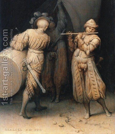 The Three Soldiers 1568 by Jan The Elder Brueghel - Reproduction Oil Painting