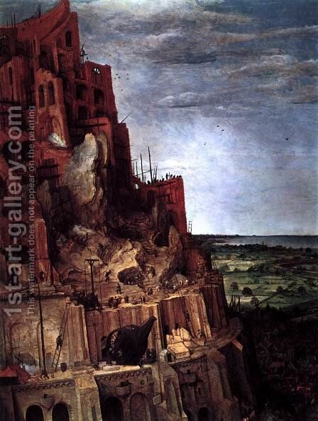 The Tower of Babel (detail) 1563 by Jan The Elder Brueghel - Reproduction Oil Painting